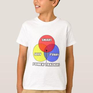 T-shirt Diagramme de Venn. Commerçants de forex
