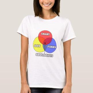 T-shirt Diagramme de Venn. Géologues