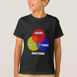 T-shirt Diagramme de Venn. Médecins