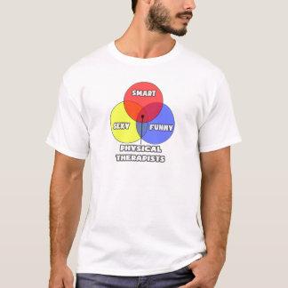 T-shirt Diagramme de Venn. Physiothérapeutes