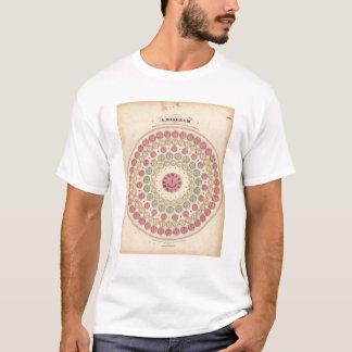 T-shirt Diagramme montrant la différence du temps