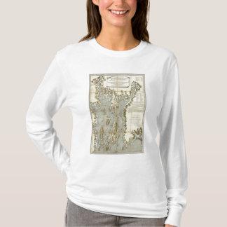 T-shirt Diagramme topographique de la baie de Narraganset
