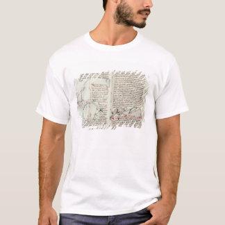 T-shirt Diagrammes des mesures et du texte (vélin)