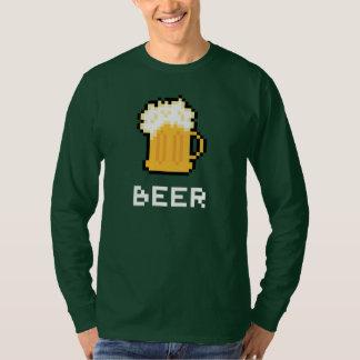 T-shirt d'icône de pixel de bière du jour de St