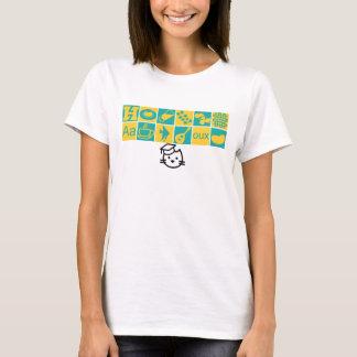 T-shirt d'icônes de classe d'académie de chaton