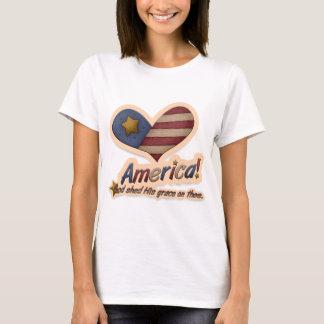 T-shirt Dieu américain a jeté sa grâce sur Thee