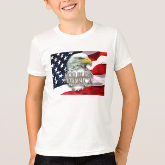 T-shirt Dieu bénissent l'Amérique