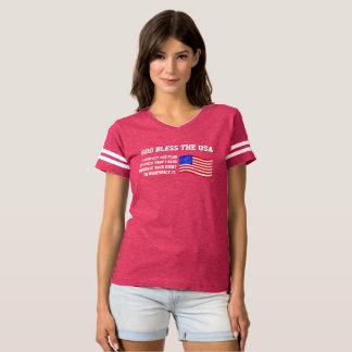 T-shirt Dieu bénissent le respect des Etats-Unis   la