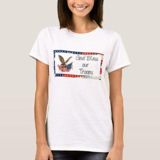 T-shirt Dieu bénissent nos troupes