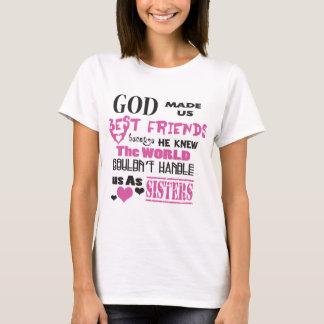 T-shirt Dieu de BFF nous a fait des meilleurs amis
