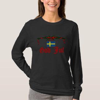 T-shirt Dieu suédois juillet (Joyeux Noël)