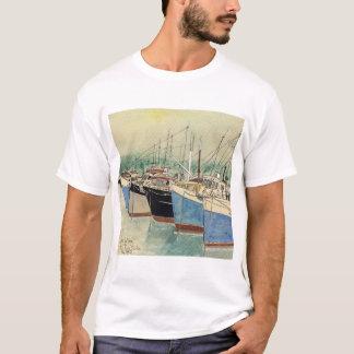 T-shirt Digby, la Nouvelle-Écosse, bateaux de pêche,