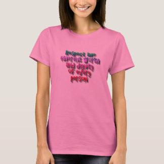 T-shirt Dignité et valeur de respect