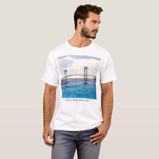 T-shirt d'Île de Rhode de pont de Newport
