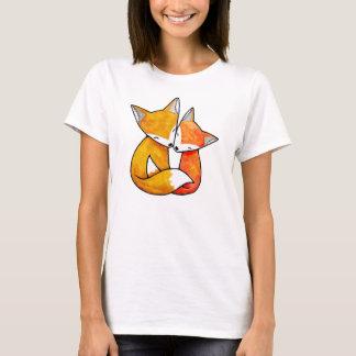 T-shirt d'illustration d'amour de région boisée de