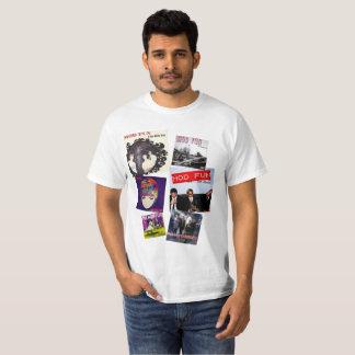 T-shirt d'illustration de veste de disque