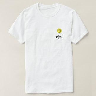 T-shirt d'illustration d'idée d'ampoule