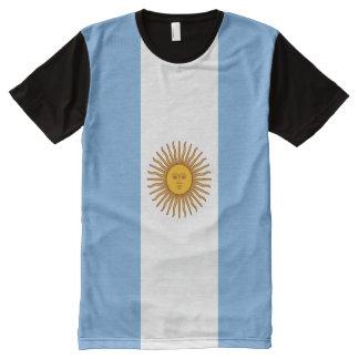 T-shirt d'impression de drapeau de l'Argentine