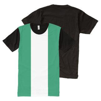 T-shirt d'impression de drapeau du Nigéria tout
