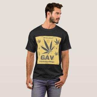 T-shirt d'impression de logo de mauvaise herbe de