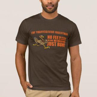 T-shirt dinde avec le texte de bloc, logo des textes