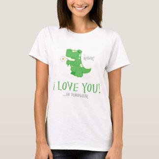 T-shirt Dinosaure affectueux