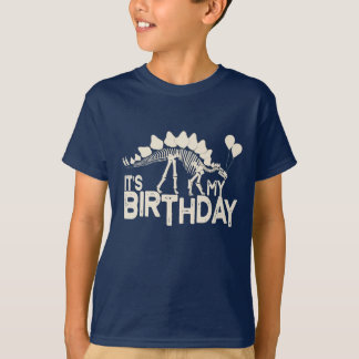 T-shirt Dinosaure avec l'anniversaire de ballons