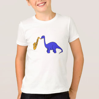 T-shirt Dinosaure de CB jouant la chemise de saxo