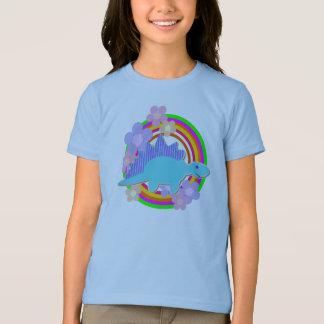 T-shirt Dinosaure mignon de Stegosaurus de fleur