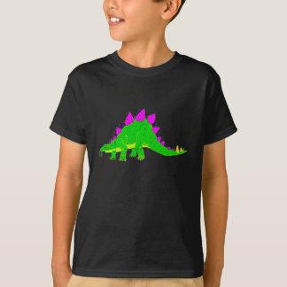 T-shirt Dinosaure rose vert de Stegosaurus