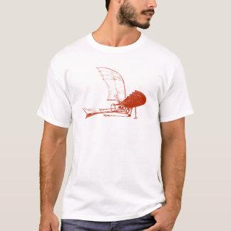 T-shirt d'insecte d'avion de Leonardo da Vinci