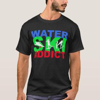 T-shirt d'intoxiqué de ski d'eau