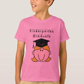 T-shirt Diplômé blond de jardin d'enfants de fille