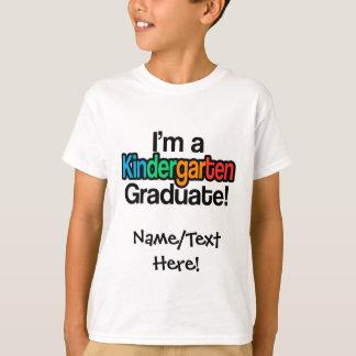 T-shirt Diplômé coloré de jardin d'enfants d'obtention du