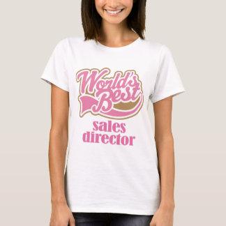 T-shirt Directeur de ventes cadeau rose