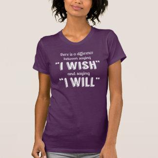 T-shirt Disant je inspiré de motivation