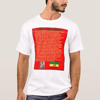 T-shirt Discours célèbre de guerre de Haile Selassie à