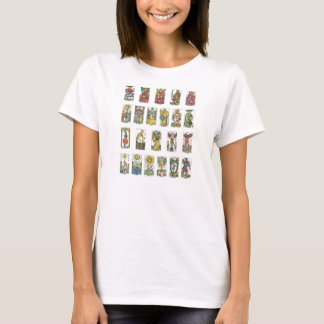 T-shirt Diseur de bonne aventure de 22 cartes de tarot