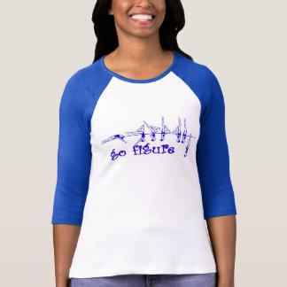T-shirt disparaissent le chiffre - 3/4 bleu royal de