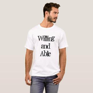 T-shirt Disposé et capable