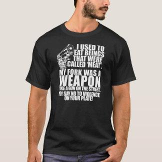 T-shirt Dites non à la violence de votre plat !