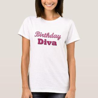 T-shirt Diva d'anniversaire