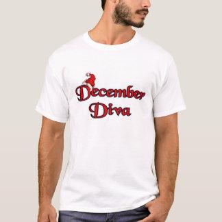 T-shirt Diva de décembre mignonne