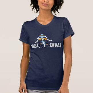 T-shirt Diva de saleté sur la pièce en t de bleu marine