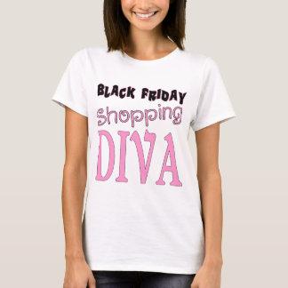 T-shirt DIVA noire d'achats de vendredi