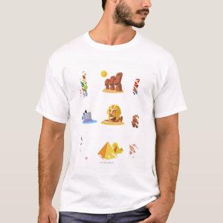 T-shirt Divers monuments de monde