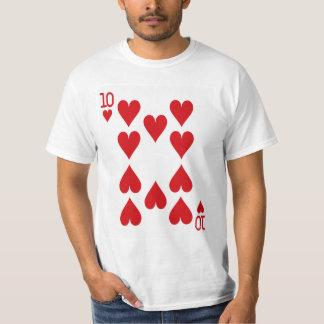 T-shirt Dizaines de la carte de jeu de coeurs