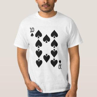 T-shirt Dizaines de la carte de jeu de pelles