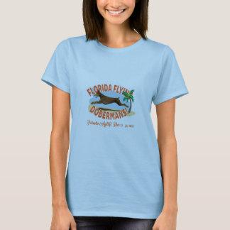T-shirt Dobermann de vol de la Floride, rouges