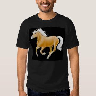T-shirt d'obscurité de cheval de palomino de